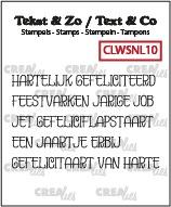 Tekst & Zo stempels, Woordstrips no. NL10: Gefeliciteerd