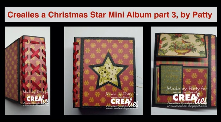 20 09 28 Crealies A Christmas Star Mini Album part 3, by Patty