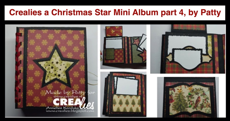 20 10 05 Crealies A Christmas Star Mini Album part 4, by Patty
