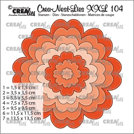 Crea-Nest-Lies XXL dies no. 104, Flower
