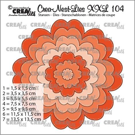 Crea-Nest-Lies XXL stansen no. 104, Bloem