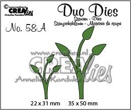 Duo Dies no. 58A, Blaadjes 12 spiegelbeeld