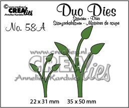 Duo Dies no. 58A, Leaves 12 mirror image