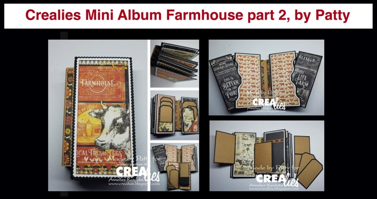 20 10 19 Crealies Farmhouse Mini Album part 2, by Patty