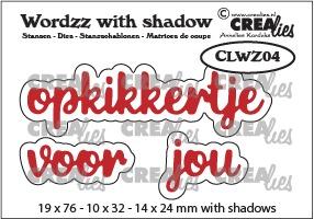 Wordzz stansen with shadow no. 04, opkikkertje voor jou
