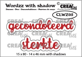 Wordzz stansen with shadow no. 05, gecondoleerd sterkte