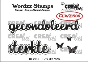Wordzz stamps no. 05, gecondoleerd sterkte