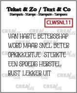 Tekst & Zo stempels, Woordstrips no. NL11: Beterschap met o.a. opkikkertje