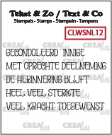 Text & Co stamps Wordstrips no. NL12, Dutch words