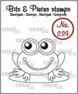 Bits & Pieces stempel no. 224, Kikker