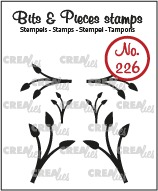 Bits & Pieces stempel no. 226, Mini blaadjes 12, dicht