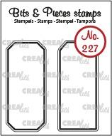 Bits & Pieces stempel no. 227, Labels