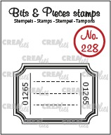 Bits & Pieces stempel no. 228, Ticket