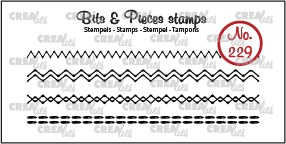 Bits & Pieces stamp no. 229, 4x Stitchlines