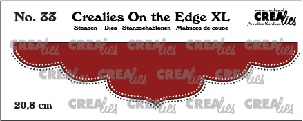 On the Edge XL dies no. 33, 20,8 cm with double dots