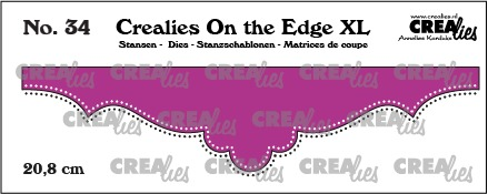 On the Edge XL dies no. 34, 20,8 cm with double dots