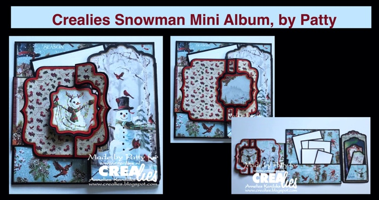 20 11 16 Crealies Snowman Mini Album, by Patty