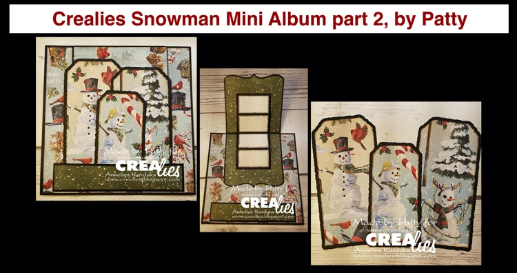 20 11 23 Crealies Snowman Mini Album part 2, by Patty