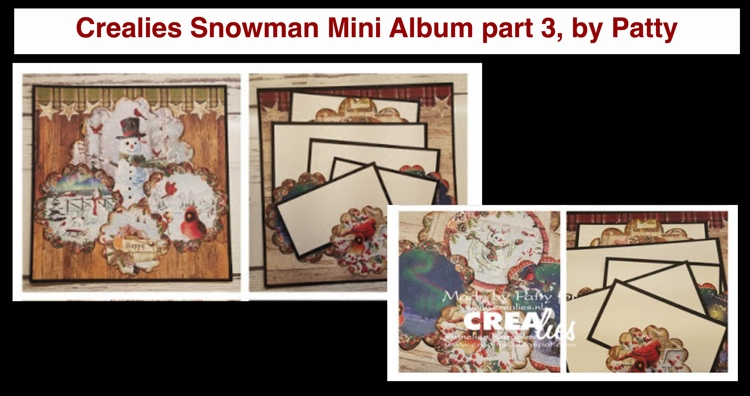20 11 30 Crealies Snowman Mini Album part 3, by Patty