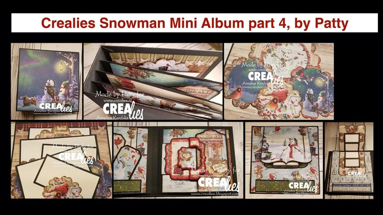 20 12 03 Crealies Snowman Mini Album part 4, by Patty