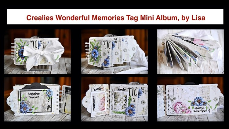 20 12 10 Crealies Wonderful Memories Tag Mini Album, by Lisa