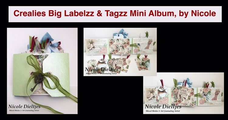 20 12 13 Crealies Big Labelzz & Tagzz Mini Album, by Nicole