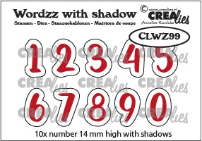 Wordzz dies with shadow no. 99, Numbers