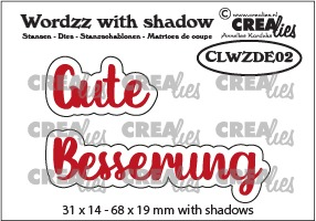 Wordzz stansen with shadow no. 02, DE: Gute Besserung
