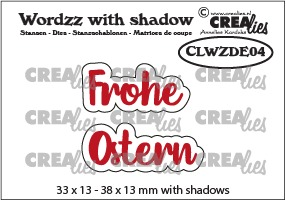 Wordzz stansen with shadow no. 04, DE: Frohe Ostern