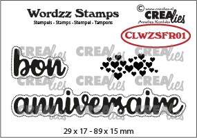 Wordzz stamps no. 01, FR: bon anniversaire