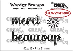 Wordzz stamps no. 03, FR: merci beaucoup