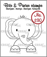 Bits & Pieces stamp no. 230, Elephant