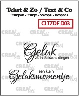 Text & Co Duo Font stamps, Divers no. 03, NL: Geluk 2x