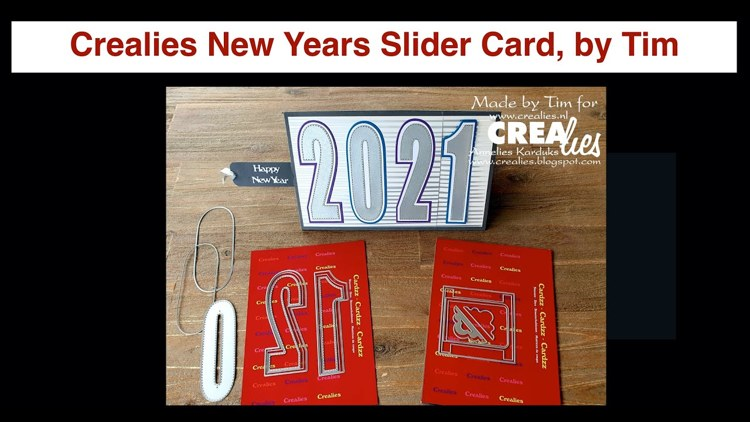 20 12 31 Crealies New Years slider Card, by Tim