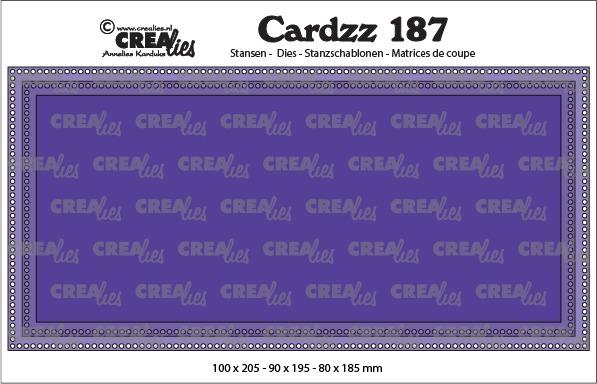 Cardzz stansen no. 187, Slimline G, met kleine gaatjes