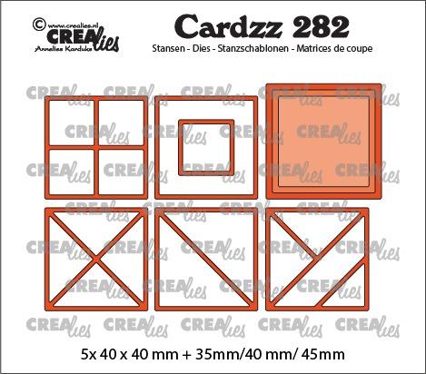 Cardzz stansen no. 282, Elements vierkanten