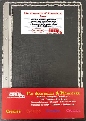 Stansen: Journaling/Planner pagina + extra laag (ruwe randen)