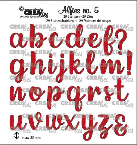 Alfies stansset no. 5, Kleine letters