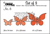 Set of 3 stansen no. 6 Vlinders 2/ Set of 3 dies no. 6 Butterflies 2