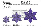 Set of 3 stansen no. 13 Bloemen 9 / Set of 3 dies no. 13 Flowers 9