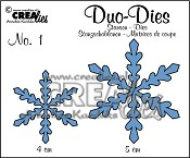 Crealies Duo Dies Sneeuwvlokken no. 1 / Crealies Duo Dies Snowflakes no. 1