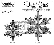 Crealies Duo Dies Sneeuwvlokken no. 4 / Crealies Duo Dies Snowflakes no. 4