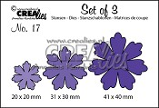 Set of 3 stansen no. 17 Bloemen 11 / Set of 3 dies no. 17 Flowers 11