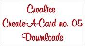 Downloads Crealies Create A Card no. 05