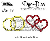 Duo Dies no. 19 Dubbele ringen & harten / Duo Dies no. 19 Double rings & hearts