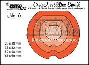 Crea-Nest-Lies Small stansen no. 6 Kiekeboe Rond / Crea-Nest-Lies Small dies no. 6 Peekaboo Round