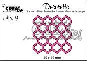 Decorette stans no. 9 / Decorette die no. 9