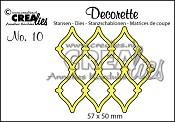 Decorette stans no. 10 / Decorette die no. 10