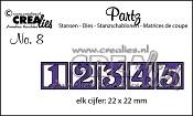 Partz stansen no. 8 cijfers 1-2-3-4-5