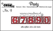 Partz stansen no. 9 cijfers 6-7-8-9-0